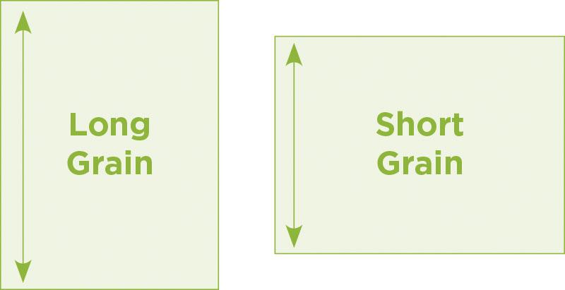 short and long grain paper