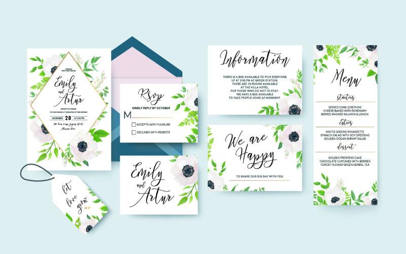 Printed invites cards