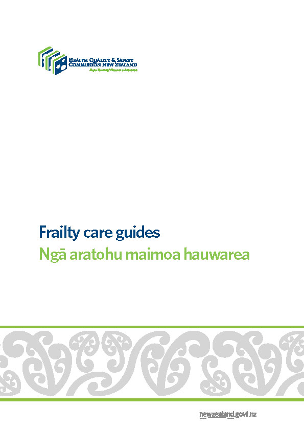 HQSC Frailty care guides cover