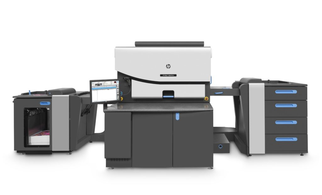 HP Indigo digital press. By using ElectroInk, the HP Indigo is able to reproduce a quality print because the colorants are suspended in liquid.